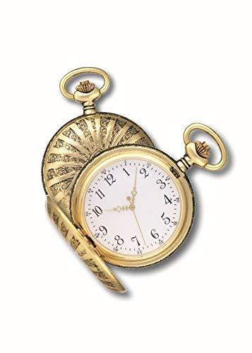 OPO 10 - Reloj de Bolsillo con Gousset, réplica de un Reloj Real de antaño: Dimensiones 9.8x12.3x2.3H (Ref: 202)