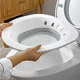 Sitz Bath, Vasca da bagno pieghevole Sitz per wc, Sedile Sitz Vasca da bagno per wc Emorroidi Vasca da bagno Sitz sopra il water, per ferite postpartum, donne incinte, emorroidi, cura perineale