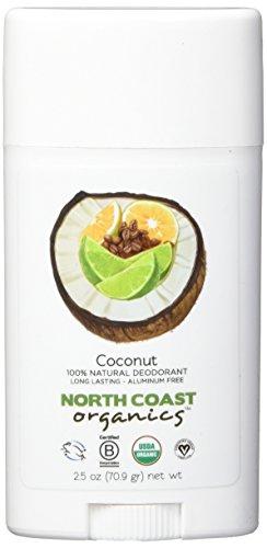 NORTH COAST ORGANICS Coconut Organic Deodorant, 0.02 Pound