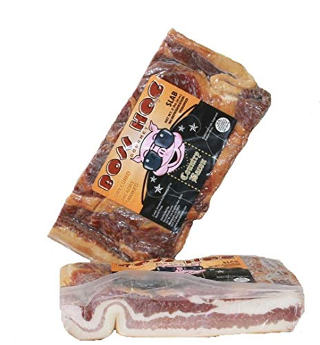 Boss Hog Hickory Smoked Dry Cured Slab Bacon two 2 pound packages