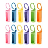 ConStore 12pcs Silicone Roller Bottle Holder Sleeve Essential Oil Bottle Protect Case Anti Slip Carrying Case Travel Protective Cover with Hanging Rope for perfume