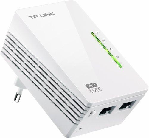 TP-LINK TL-WPA2220 Adattatore Powerline AV200, Wireless N300, 2 Porte Fast Ethernet, Bianco
