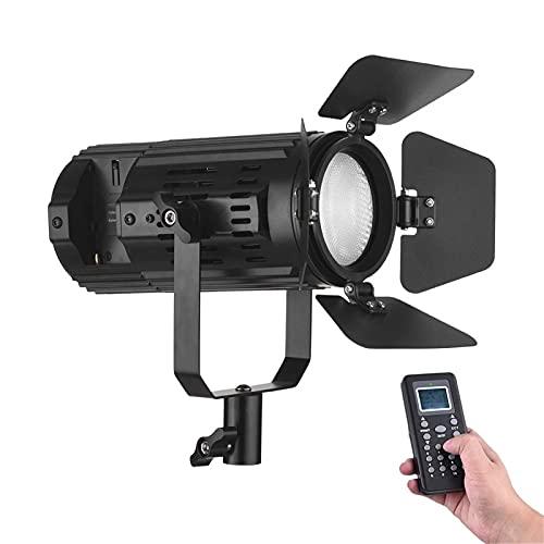 Feixunfan LED Video Luz Temperatura De Color LED Dimmable LED 3200K-5600K Temperatura De Color con Puerta Remota De Puerta De Granero para Fotografía de Productos (Color : Black, Size : One Size)