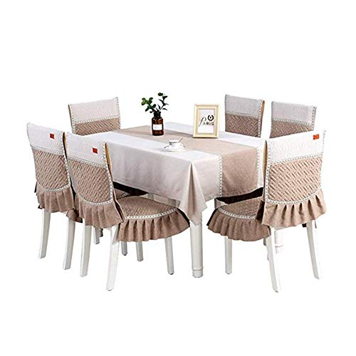 Kunyi Mantel rectangular color a juego de la tela engrosamiento nórdica moderna minimalista blanco marrón impermeable paño de mesa de lino de algodón mantel (Size : 150 * 200cm)