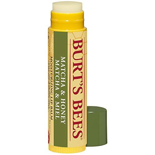 Burt\'s Bees 100{76254a451a11889f917eef6b2d728de14e57bd6ab6e2b7481020a04680e24e36} natürlicher, feuchtigkeitsspendender Lippenbalsam, Matcha und Honig mit Bienenwachs und grünem Teeextrakt, 9.07 g