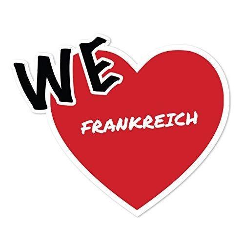 JOllify Sticker - Frankrijk - 10cm - Design: We love - Wir liebe