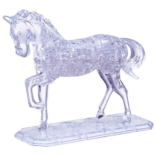 HCM Kinzel 109001 HCM 109001-Crystal Puzzle Pferd 100 teilig, transparent