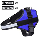 Belababy Dog Harness No-Pull Breathable Adjustable, Walking Training Assistance Chest, Outdoor Easy Control