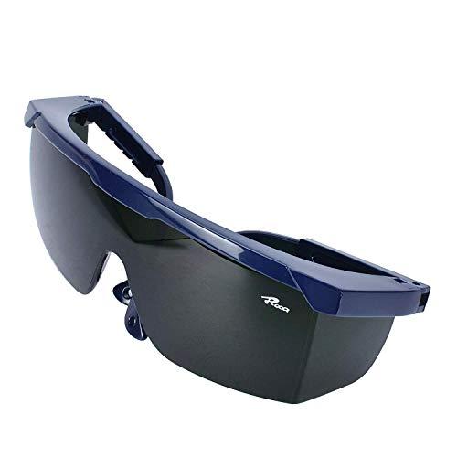 Mufly Schweißerbrille Schweißer Sicherheitsbrillen,klappbar,Anti-Flog,Anti-Shock,Blendschutz,Schutzgläser für Schweißer mit transparenter und schwarzer Brille(IR5.0)
