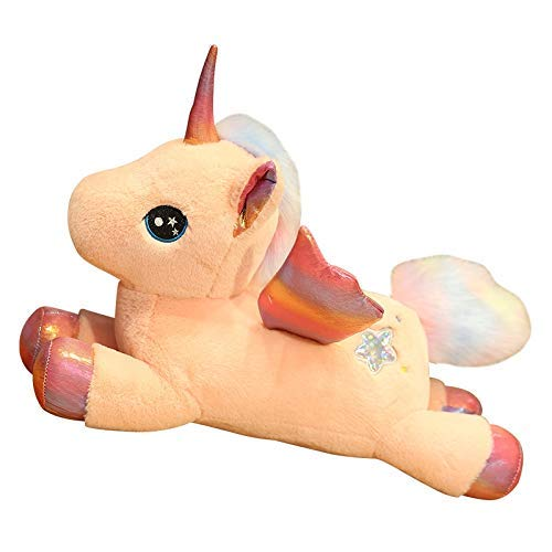 Jouets en Peluche New Hot Huggable de la Licorne en Peluche Peluche Poupées Flying Horse Jouet for Les Enfants Fille Douce Oreiller Accueil Décor Cadeaux d'anniversaire zcaqtajro
