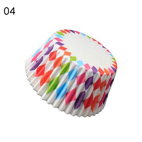 dljztrade 100 stuks mooie cupcake cake papieren bekers bakken chocolade plakband dienblad decoratieve cake bakken gereedschappen 100 Stück 2 #