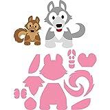 Marianne Design Fustella Collectables Eline's Husky Dies, Metal, Pink, 21x15x0.4 cm