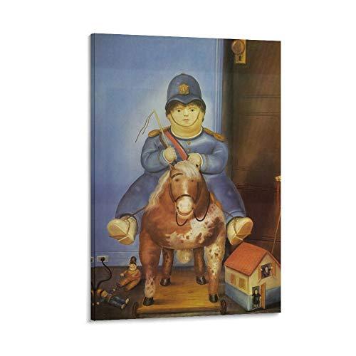 XYDQ Póster decorativo de Fernando Botero Pedro a caballo, lienzo decorativo para pared, para sala de estar, dormitorio, 50 x 75 cm