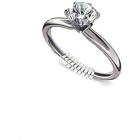 8 misure XCOZU 16 Pezzi invisibile Regolatore della misura dellanello per anelli sciolti con panno per lucidatura argento clip per anello di guardia per anelli per rendere gli anelli pi/ù piccoli