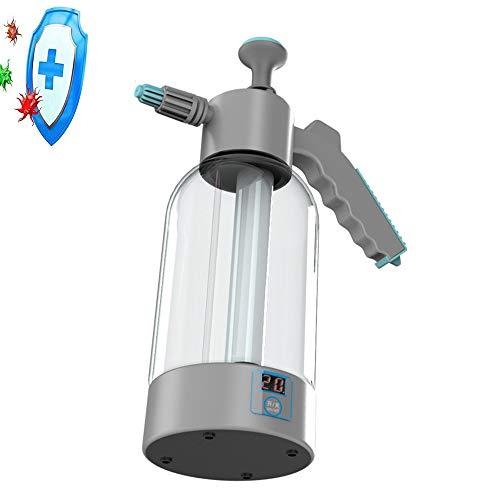 Boyuan Nebulizador neumático portátil ULV, nebulizador inalámbrico ULV 1.8L eléctrico, generador de hipoclorito de Sodio con Carga USB, para desinfección de Interiores y automóviles