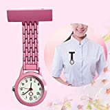 B/H Paramédico Doctores Reloj Médico,Quartzstudentexambrooch, pocketfashionnursingwatch-Purple,Relojes de Doctor Enfermera