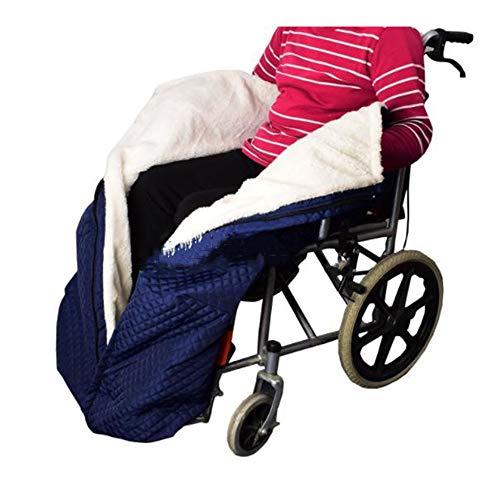 Manta cálida para silla de ruedas de doble cara, cubierta universal para silla de ruedas acogedora para personas mayores y discapacitadas
