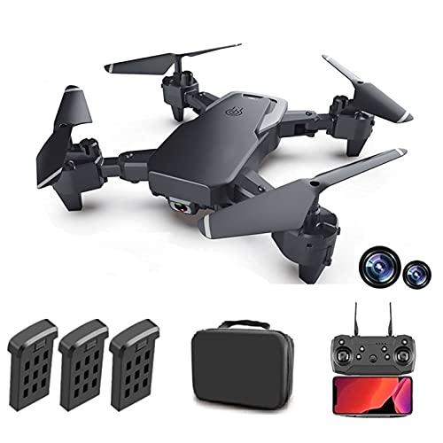 WECDS Drone 4K UHD con EIS Anti Shake, 120 Gradi; Fotocamera FOV per Adulti, Quadcopter GPS con Trasmissione, Motore Senza spazzole, Follow Me, Custodia da Trasporto Doppia