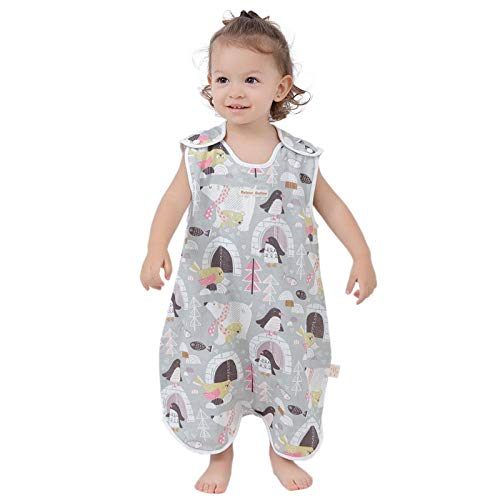 CAIYIXIONG Unisex Baby Sleeping Bag 6-18 Months Gauze Anti-Kick Quilt Spring Autumn Summer Cotton Thin Baby Swaddle Baby Blanket Children's Sleeping Bag