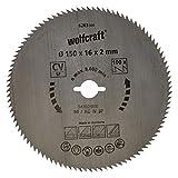 Wolfcraft 6263000 - Disco de sierra circular CV, 100 dient., serie azul Ø 150 x 16 x 2 mm