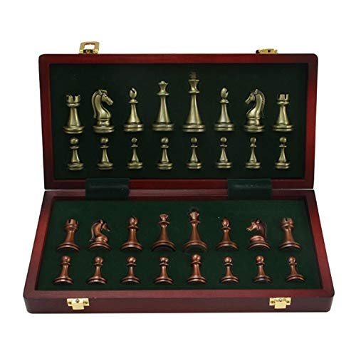 "Yourenyuan Wooden Chess Set Chess Armory 11"" Folding Wooden Chess Set Board Game For Kids Adult Travel Chess Set Board Game"