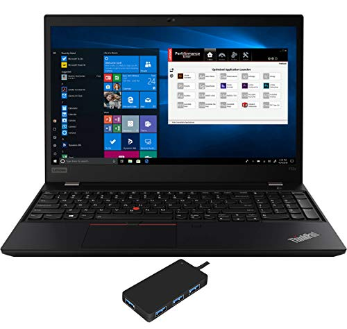 Lenovo ThinkPad P53s Laptop (Intel i7-8565U 4-Core, 16GB RAM, 512GB PCIe SSD, Quadro P520, 15.6' Full HD (1920x1080), Fingerprint, WiFi, Bluetooth, Webcam, Win 10 Pro) with USB3.0 Hub