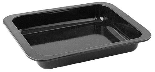 Zenker Ofenbackform (33 x 5 x 25 cm) SPECIAL COOKING, rechteckige Auflaufform mit Emaille-Versiegelung, Backform mit extra hohem Rand (Farbe: Schwarz), Menge: 1 Stück