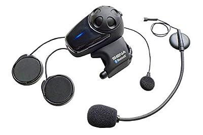 Sena SMH10-11 Motorcycle Bluetooth Headset / Intercom with Universal Microphone Kit (Single) , Black by Benchmark Helmets