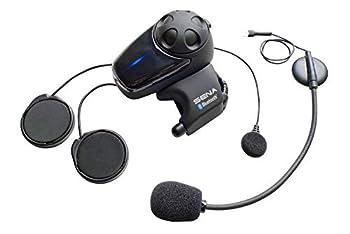 Sena SMH10-11 Motorcycle Bluetooth Headset / Intercom with Universal Microphone Kit  Single   Black