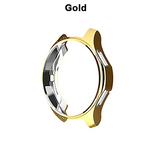 Metermall Electronics For 42mm/46mm Watch Case Cover Samsung Galaxy Watch Classic&Frontier All-Around Protective Frame Shockproof Soft TPU Silicone Shell Gold 46mm