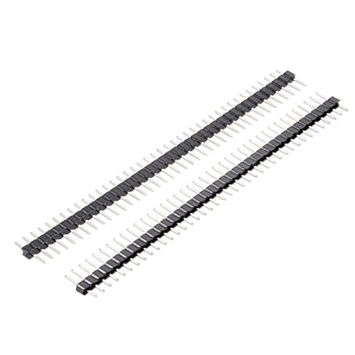 uxcell 50 Stück 2 mm Pitch 40 Pin 9 mm Länge einreihig gerader Stecker Stiftleiste für Arduino Prototyp Shield