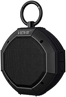 VIDVIE Waterproof/Shockproof Portable Bluetooth Wireless Shower Speaker Ultra Bass with Mic and POWERBANK