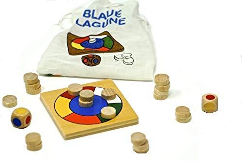 Mini Brettspiel für 2 Spieler, Dragon Blaue Lagune - Lernspiele und Holzspiele für Kinder & Erwachsene