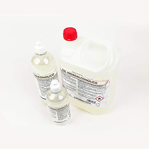 Pack de 5 botellas de 1 litro .Gel Higienizante Hidroalcohólico Manos 5lt GLH2 Silex (5 botellas de 1l). Máxima desinfección (70% alcohol), suavidad y evaporación. Olor neutro alcohol suave.