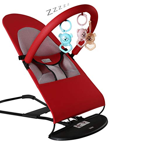 Best Buy! Baby Bouncer Chair - Baby Rocker Removable Toys and Compact Fold for Storage or Travel - E...