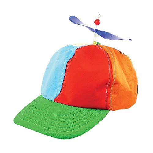Helikopter Mütze mit Propeller Kappe Hut Basecap Erwachsene Kinder Cap Hubschrauber