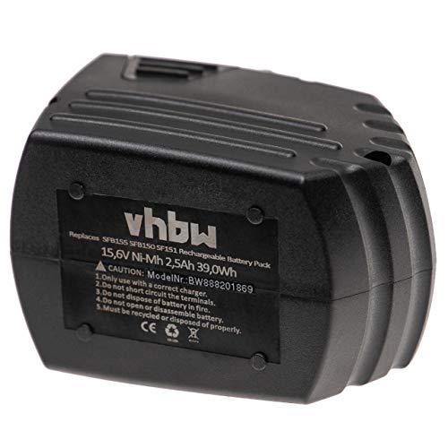 vhbw Batería reemplaza Hilti SFB150, SFB155 para herramientas eléctricas (2500mAh NiMH 15,6V)