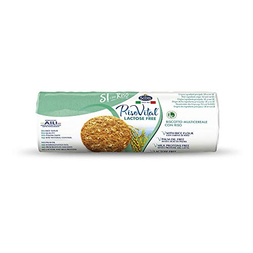 Riso Scotti Si con Riso - Riso Vital Laktosefreies Mehrkorngebäck mit Reis, Kekse ohne Palmöl, 250 g