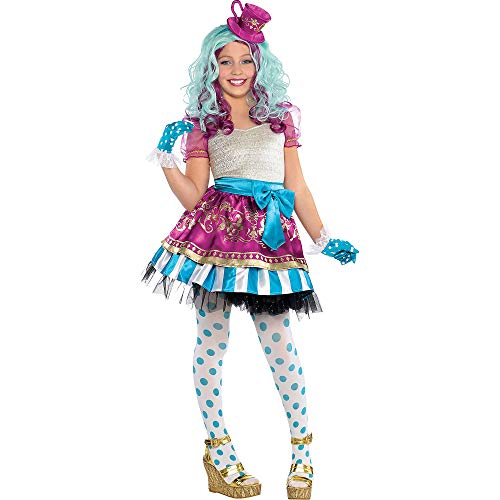 Ever After High Madeline Hatter Halloween Costume Supreme for Girls, Large, with Included Accessories, by Amscan