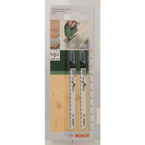 Bosch 2609256724 HCS - T 101 BR Lame de scie sauteuse pour Coupe nette Epaisseur 3-30 mm Longueur 100 mm