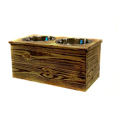 Double Large Elevated Dog Dish // Large 2 Bowl Feeding Stand // Dog Dish // Elevated Dog Bowl