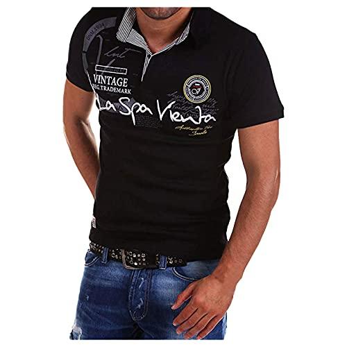 Dasongff Herren Poloshirt Oberteile Polohemd Regular Fit Tee Freizeithemd Kurzarmshirt Shirt Basic Lässiges Kurzarm Casual Atmungsaktiv Hemd Polo Shirts Kurzarmhemd