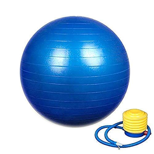 KWT Exercise Heavy Duty Gym Ball Non-Slip Stability Ball Anti Burst Yoga Ball Balance Ball Extra Thick Fitness Ball for Home, Gym, Office with Quick Pump (Gym Ball 75cm with Pump)(Multicolor)