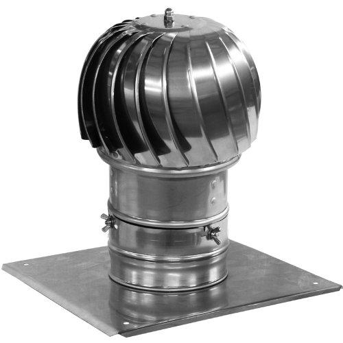 Tubo de la chimenea cubierta spinner plug-in de acero