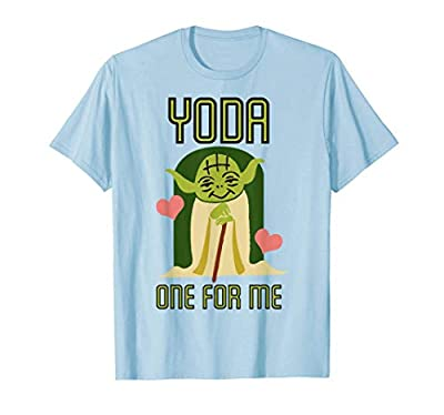 Star Wars Yoda One For Me Cute Valentine's Graphic T-Shirt T-Shirt