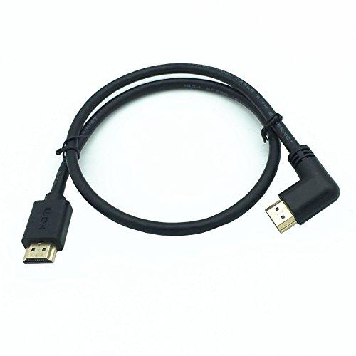 larrits 0,6m High Speed 4K 60Hz HDMI 2.0 Kabel mit Ethernet 90 Grad rechts Winkel Unterstützung 4K*2K 60HZ 1080p 3D HDR für Blueray DVD Player HDTV PS4 Xbox 360 Xbox One Projektoren