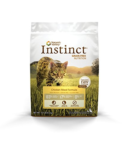 Nature'S Variety Instinct Original Grain Free Chicken Meal Formula Natural Dry Cat Food By, 12.1 Lb. Bag
