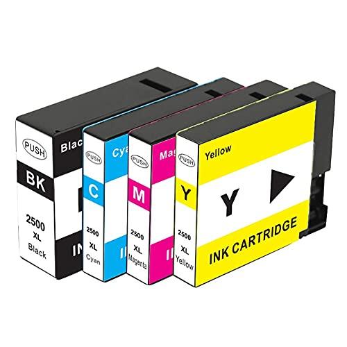 SKSNB PGI-2500XL para Cartucho de Tinta Canon PGI-2500XLBK CMY, para Canon MAXIFY IB4050 IB4150 MB5050 MB5150 MB5350 MB5450 (Tinta de Tinte)