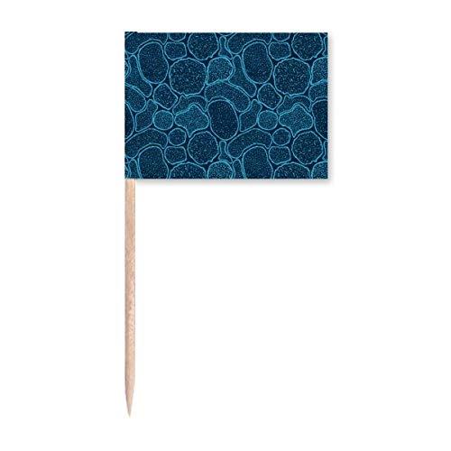 Blaue Mikroskop-Zellen Struktur Illustration Zahnstocher Flaggen Marker Topper Party Dekoration