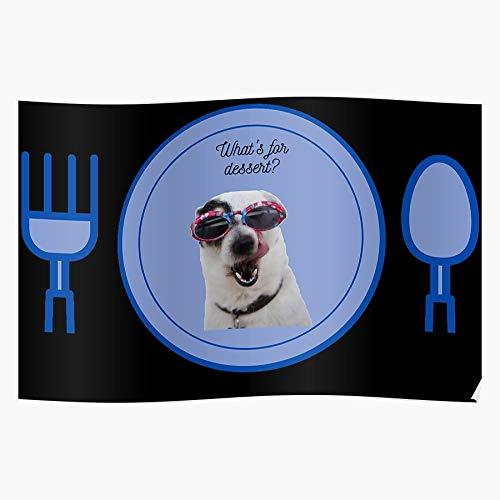 Póster de la pared de la decoración del hogar de Mans Dogs Sleep Best Animals Lindo Friend Funny Friend!